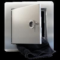 Einwurftür, Edelstahl gebürstet für Ø 300 mm