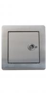 Einwurftür, Edelstahl gebürstet für Ø 250 mm