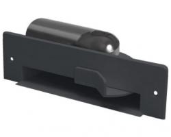 Saugende Kehrschaufel schwarz RAL9005